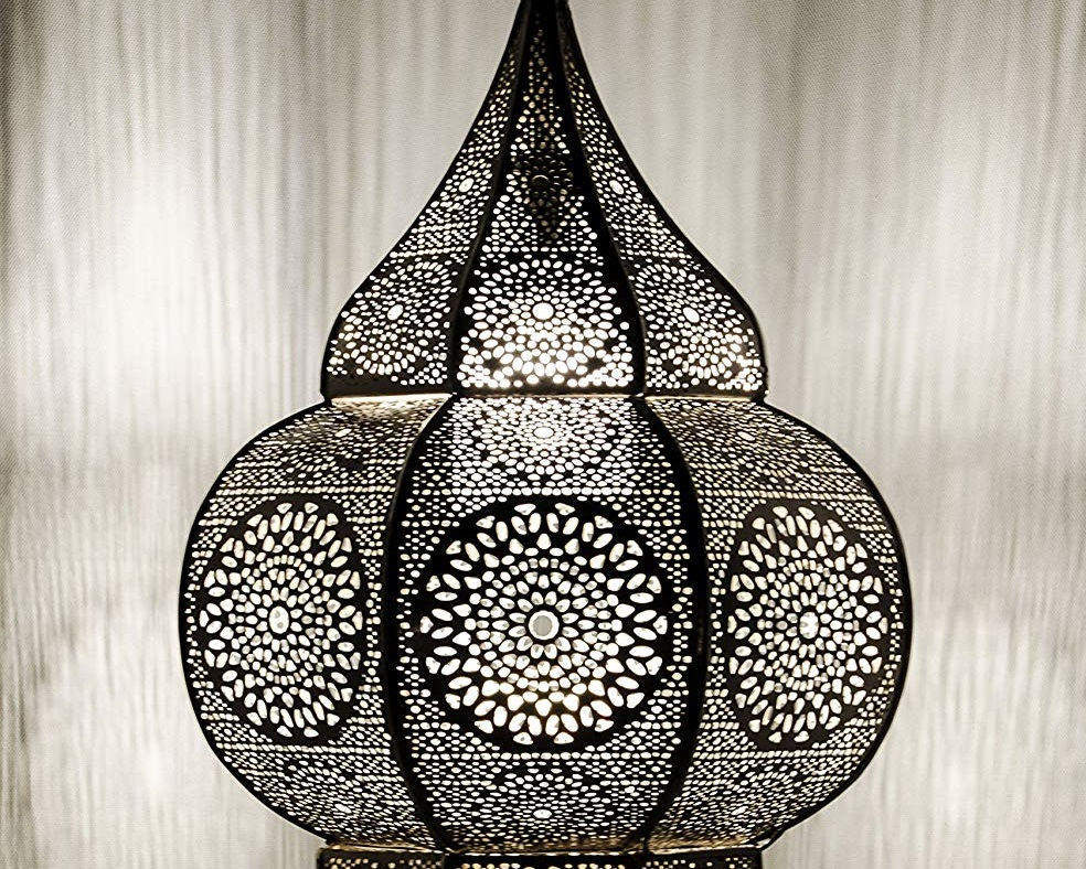 lampara de techo étnica