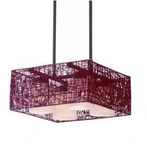 lámpara techo cuadrada
