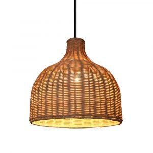 lampara techo bambú