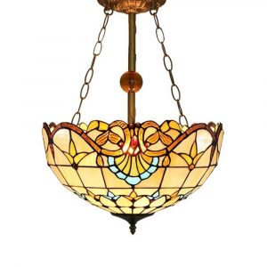 lámpara techo tiffany
