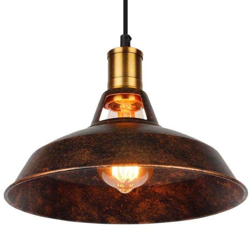 lampara de techo metal