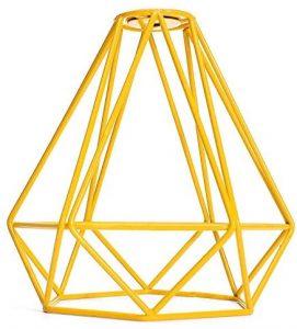 lampara de techo amarilla