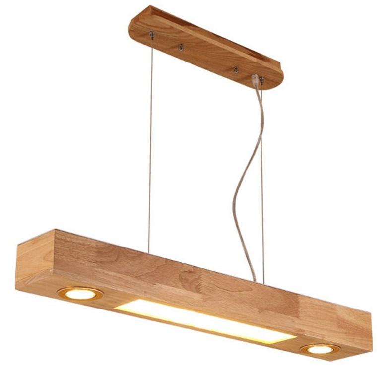 lampara de techo de madera