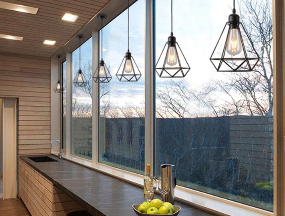 lámpara de techo color negro