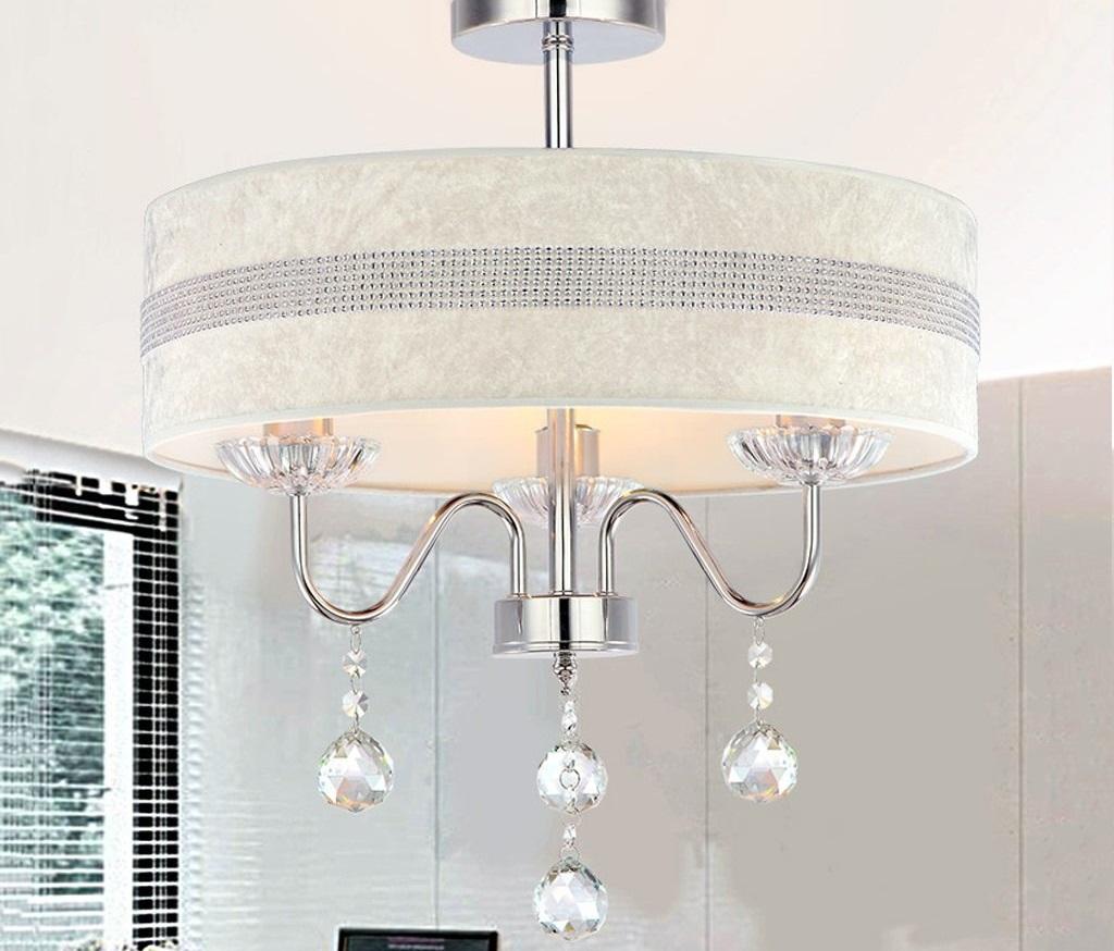 lámpara techo pantalla textil