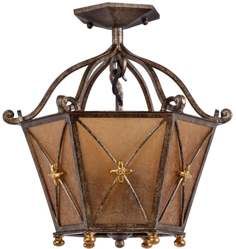 lámparas de techo rústico